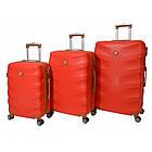 Чемодан дорожный на колесах Bonro Next, набор 3 штуки, комплект чемоданов Красный, фото 3