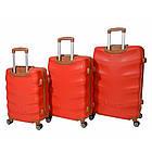 Чемодан дорожный на колесах Bonro Next, набор 3 штуки, комплект чемоданов Красный, фото 5