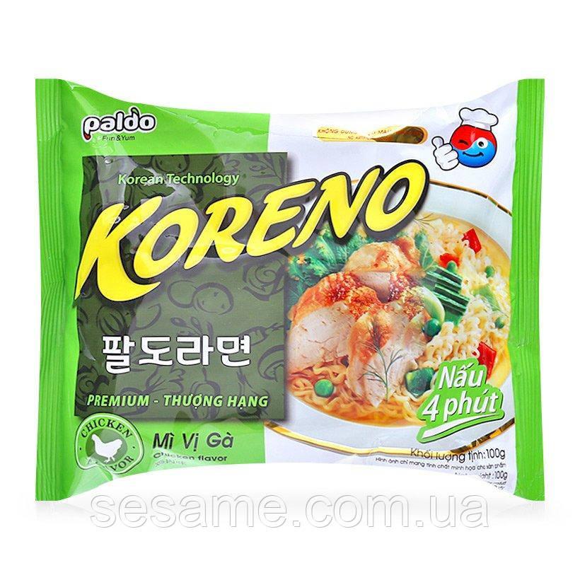 Корейская Лапша Koreno Paldo со вкусом Курицы (100 гр) (Корея)