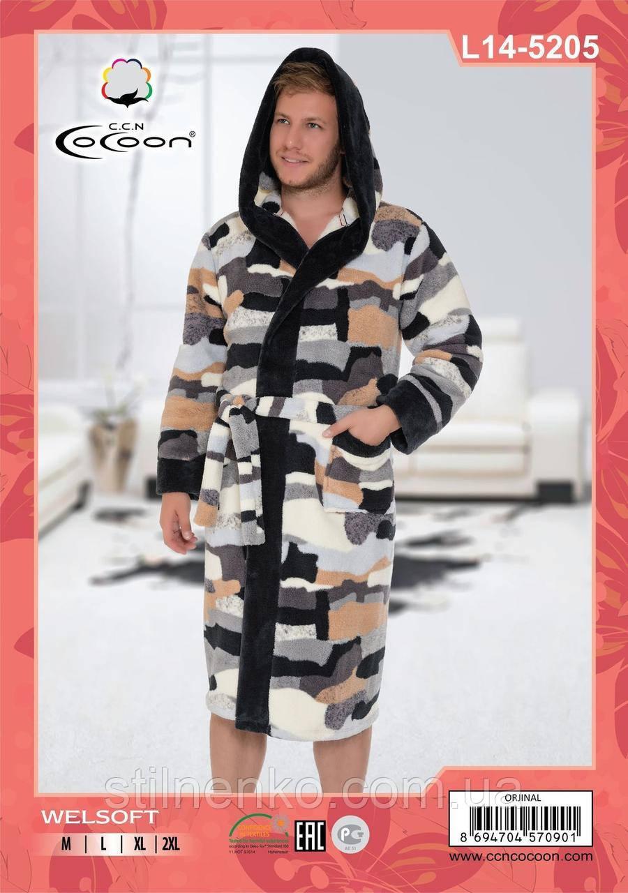 Мужской халат  с принтом в стиле милитари