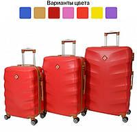 Чемодан дорожный на колесах Bonro Next, набор 3 штуки, комплект чемоданов (дорожня валіза, набір валіз) Бордовый