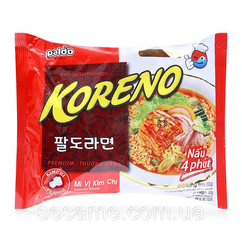 Корейська Локшина Koreno Paldo зі смаком Кім-чі (100 гр) (Корея)