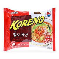 Корейська Локшина Koreno Paldo зі смаком Кім-чі (100 гр) (Корея), фото 1