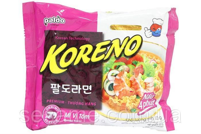 Корейская Лапша Koreno Paldo со вкусом Креветки (100 гр) (Корея)