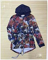 Стильный трикотажный костюм для девочки (Парка с брюками) код 0136 (р.140-152)