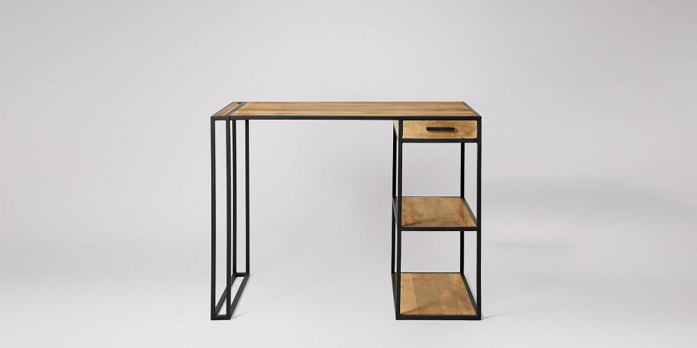 """Письменный стол """"Пимп"""" из массива дерева в стиле loft"""