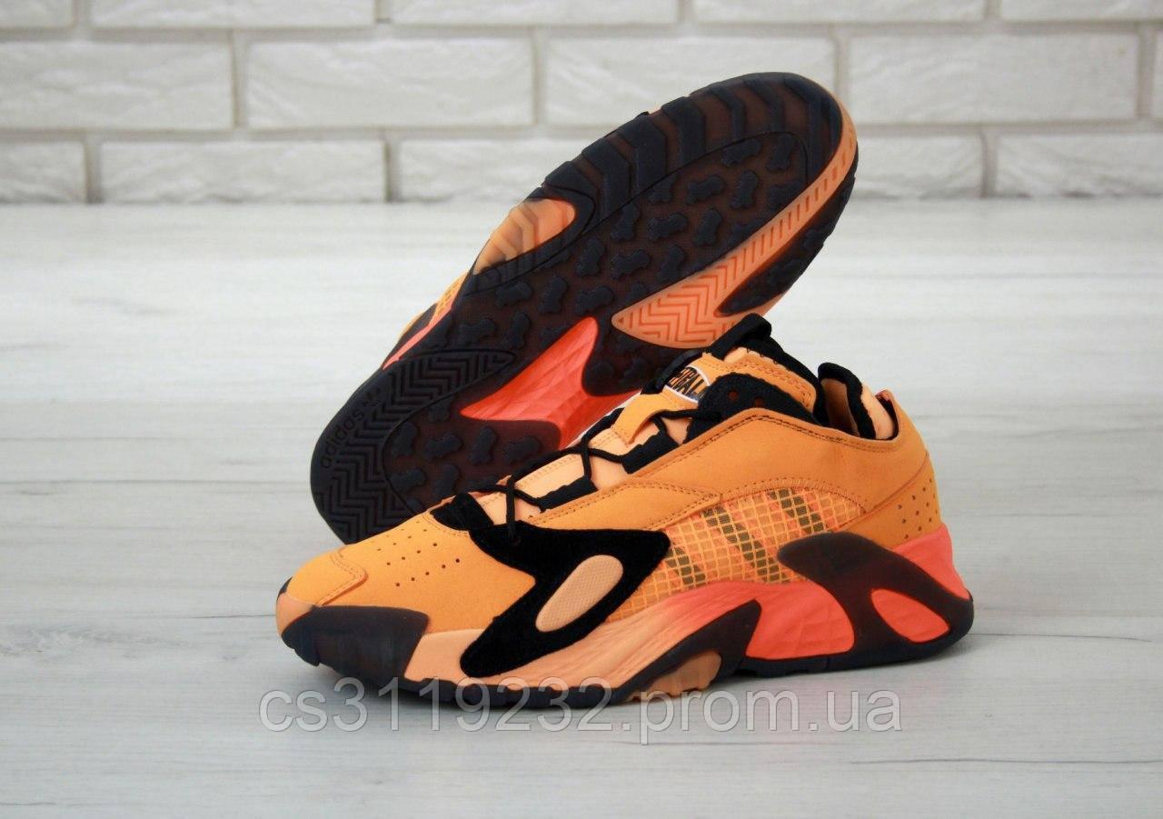 Мужские кроссовки Adidas Streetball Orange Black (оранжевые)