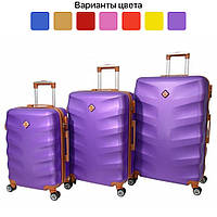 Чемодан дорожный на колесах Bonro Next, набор 3 штуки, комплект чемоданов (дорожня валіза, набір валіз) Фиолетовый