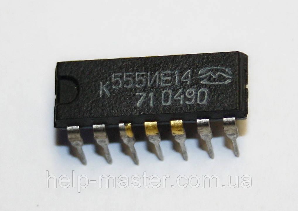 Микросхема К555ИЕ14 (DIP-14)