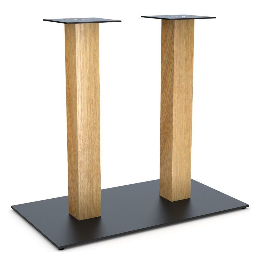 """Дизайнерские опоры """"LOFT"""" для столов в ресторан с деревянными ножками"""