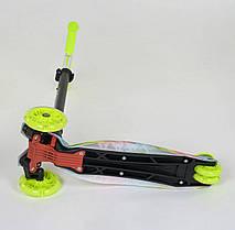 "Самокат А 25601 /779-1335 MAXI ""Best Scooter"" (1) пластмассовый, 4 колеса PU, СВЕТ, фото 3"