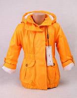 """Демисезонная куртка на девочку """"Модница"""" желтая"""