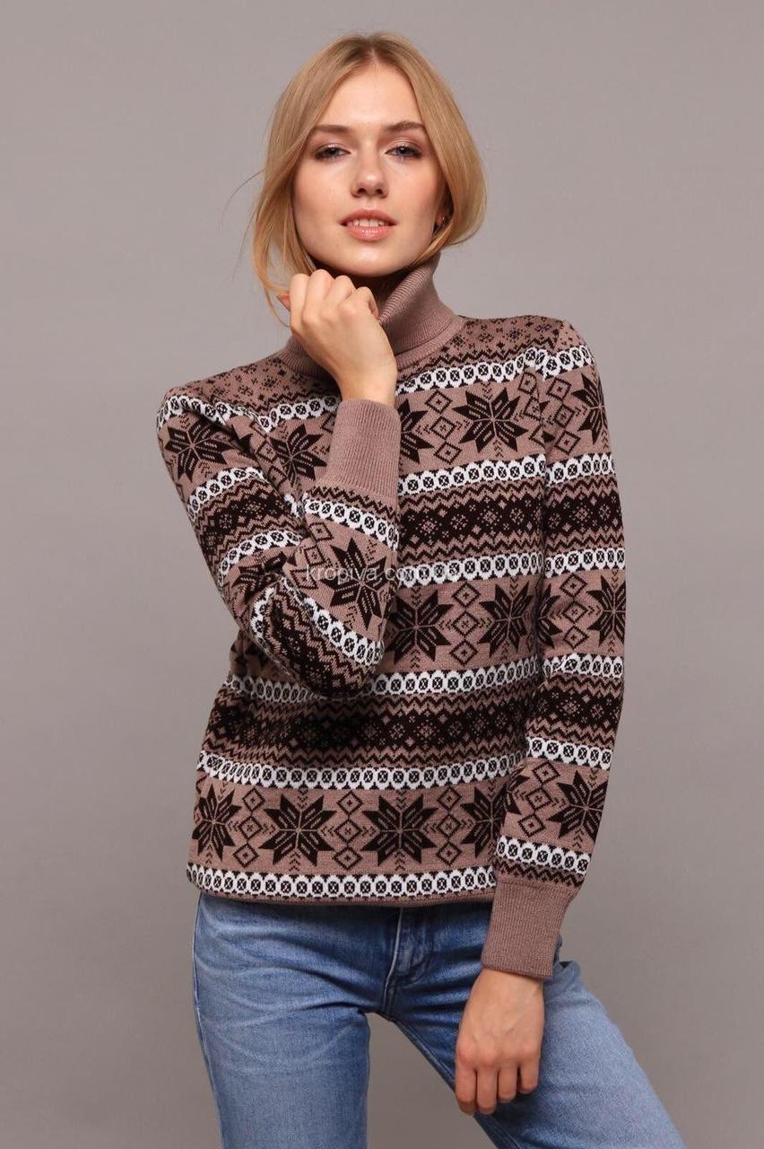 """Великолепный женский свитер """"Вязка+полушерсть"""" 48 размер батал"""