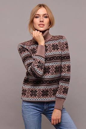"""Великолепный женский свитер """"Вязка+полушерсть"""" 48 размер батал, фото 2"""