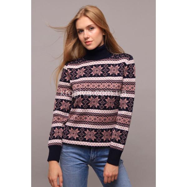 """Великолепный женский свитер """"Вязка+полушерсть"""" 46, 48, 50 размер батал"""
