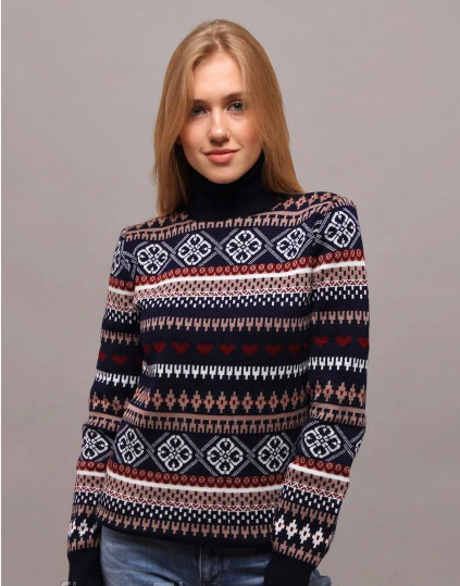 """Великолепный женский свитер """"Вязка+полушерсть"""" 50 размер батал"""