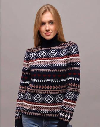 """Великолепный женский свитер """"Вязка+полушерсть"""" 50 размер батал, фото 2"""