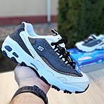 Женские кроссовки Skechers D'Lites (серо-белые), фото 4