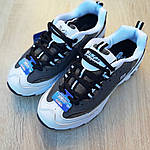 Женские кроссовки Skechers D'Lites (серо-белые), фото 5