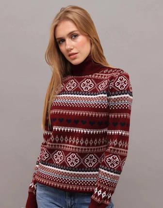 """Стильный женский свитер """"Вязка+полушерсть"""" 48, 50 размер батал, фото 2"""