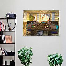 "Постер ""Minecraft, Майнкрафт. Рыцари квадратного стола"". Размер 60x43см (A2). Глянцевая бумага, фото 3"