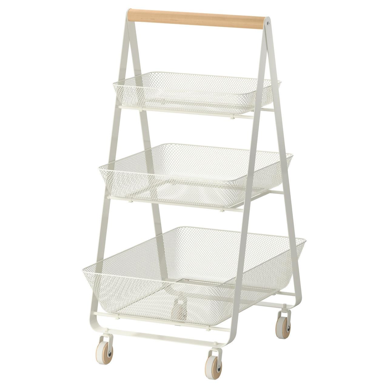 Корзина IKEA RISATORP 25x26x18 см белый 202.816.31