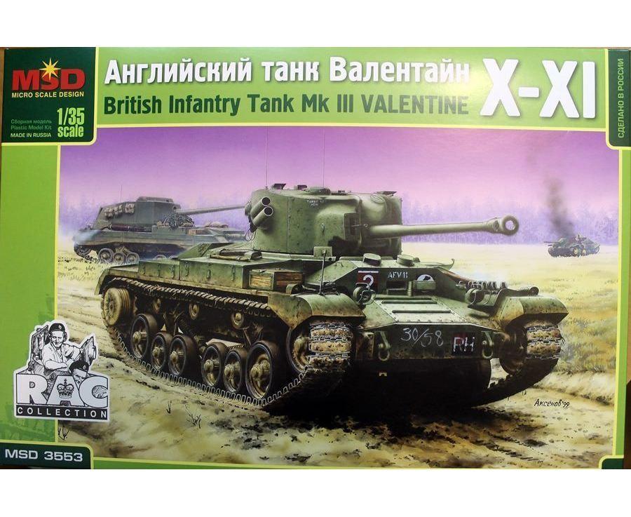 Сборная модель британского танка VALENTINE XI. 1/35 MAQUETTE 3553