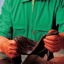 Перчатки защитные MAPA химически стойкие К80Щ50 рельефные ALTO 299 INDUSTRIAL латекс, фото 2