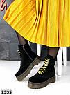 Женские демисезонные ботинки в черном цвете, из натуральной замши 36, 37 ПОСЛЕДНИЕ РАЗМЕРЫ, фото 2