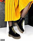Женские демисезонные ботинки в черном цвете, из натуральной замши 36, 37 ПОСЛЕДНИЕ РАЗМЕРЫ, фото 5