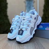 Женские кроссовки Skechers D'Lites (бело-серые)