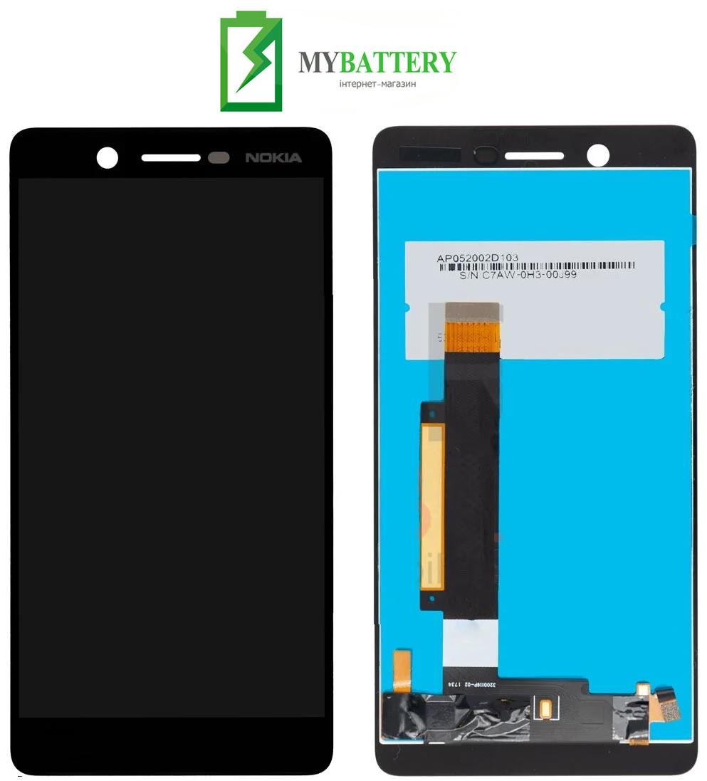 Дисплей (LCD) Nokia 7 Dual Sim с сенсором черный оригинал