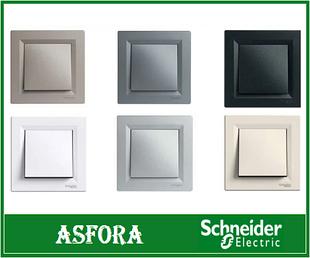 Розетки выключатели Schneider Electric Asfora
