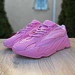 Жіночі кросівки Adidas Yeezy 700 V2 (рожеві), фото 6