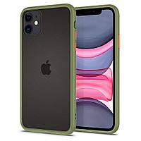 Чехол Spigen для iPhone 11 Ciel Color Brick, Khaki (076CS27513), фото 1