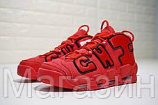 Мужские кроссовки Nike Air More Uptempo Chi Chicago Red Найк Аир Унтемпо красные с белым, фото 2