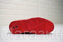 Мужские кроссовки Nike Air More Uptempo Chi Chicago Red Найк Аир Унтемпо красные с белым, фото 3
