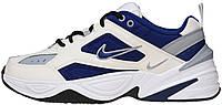 Женские кроссовки Nike M2K Tekno Deep Royal Blue White Найк Текно белые с синим