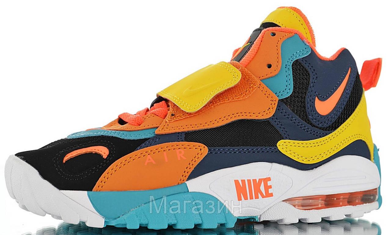 Мужские кроссовки Nike Air Max Speed Turf Green Abyss Amarillo Flash Crimson Найк Аир Макс разноцветные