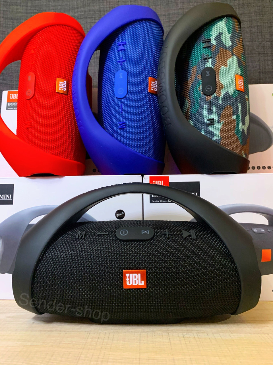 Блютуз колонка Бумбокс JBL BOOMBOX mini Bluetooth , USB , microSD , AUX , FM