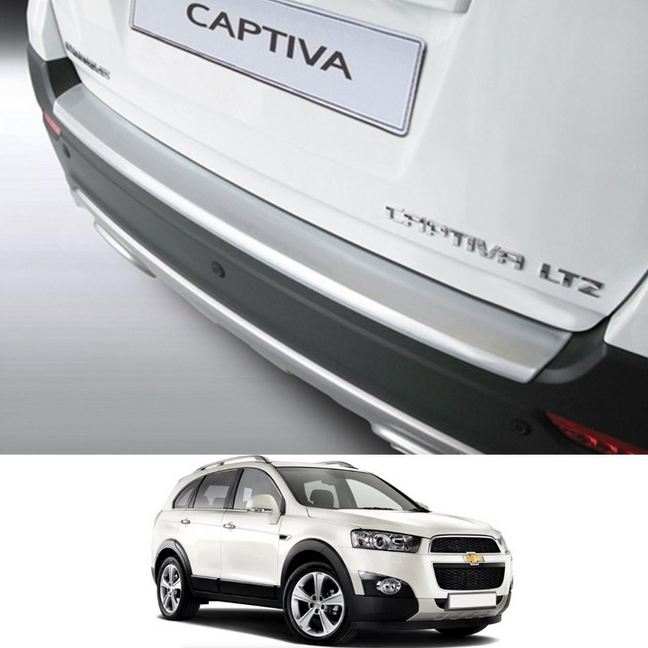 Пластиковая защитная накладка на задний бампер для Chevrolet Captiva 2013+