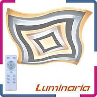 Люстра светодиодная с пультом Luminaria Geometria quarto Q-650 80Вт белая