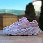 Жіночі кросівки Adidas Yeezy 700 V2 (блідо-рожеві), фото 3
