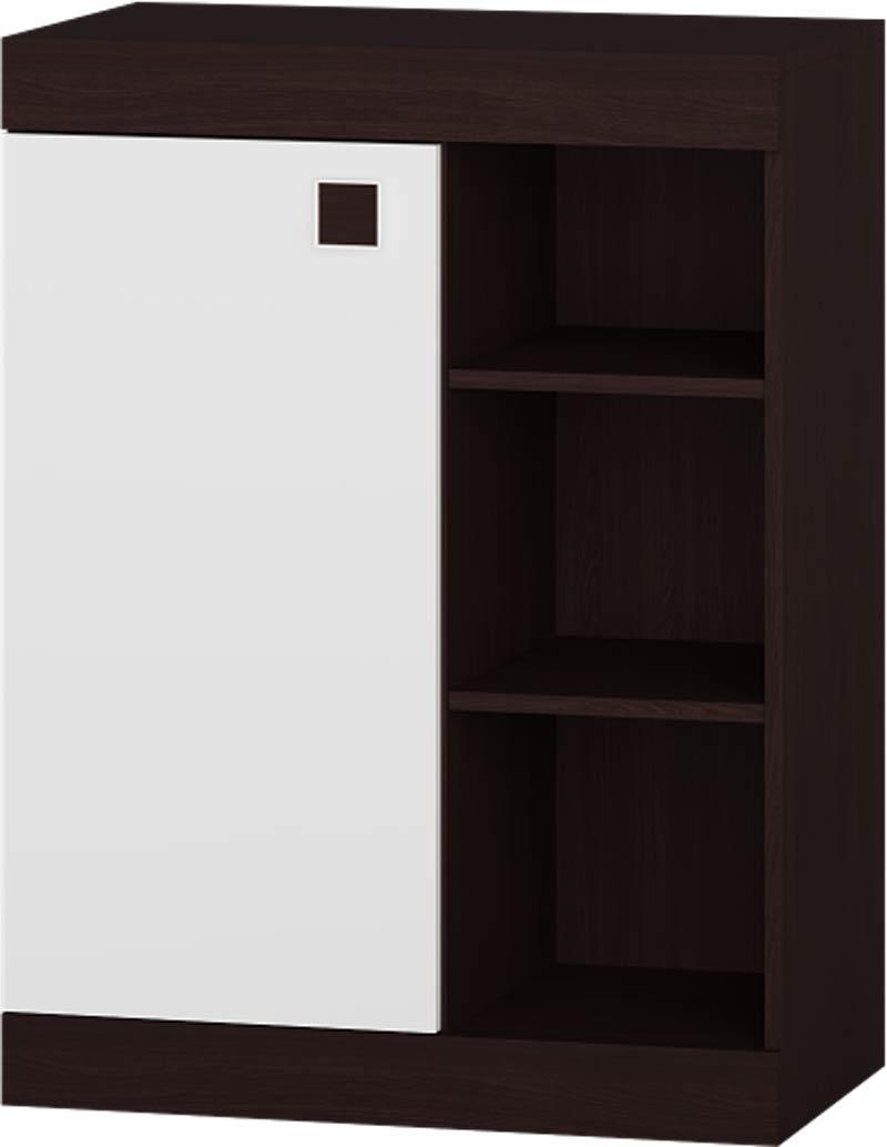 Тумба открытая Соната ЭВЕРЕСТ Венге темный + Белый (70х38х93.5 см)