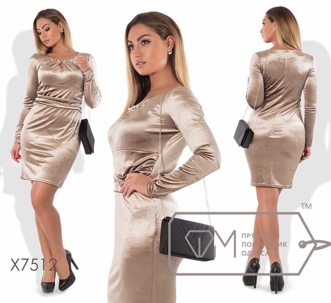"""Великолепное женское платье ткань """"Королевский Бархат"""" 48, 50, 52, 54 размер батал"""