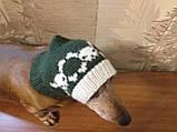 Шапка для собаки череп с костями, фото 2
