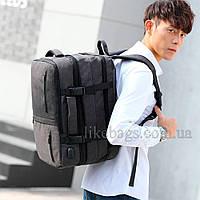 Сумка-рюкзак Meinaili трансформер черный 501804B