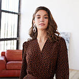 Женское модное длинное  платье в горошек на запах с воланом (2 цвета), фото 5