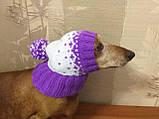 Зимняя шапка для маленькой собаки,шапка для собаки, фото 8