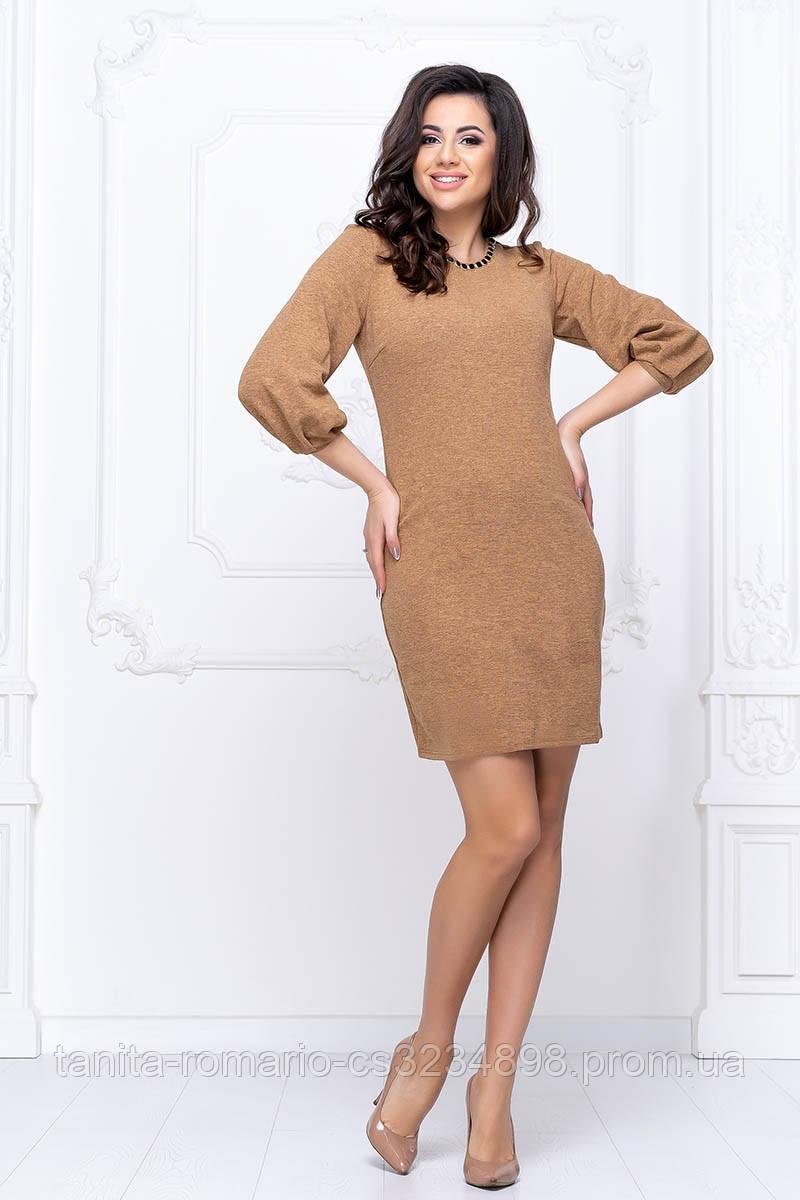 Повсякденна сукня рукавчик ліхтарик гірчичного кольору M